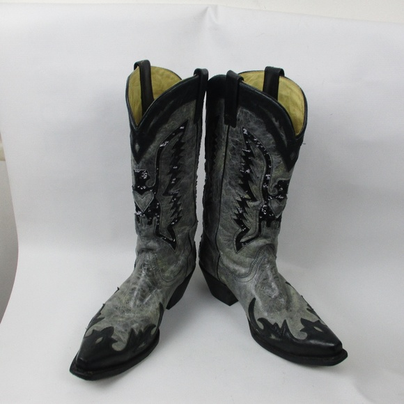 f79a739794249 Corral Shoes | Gray Boots W Sequins Womens Sz 10 M | Poshmark